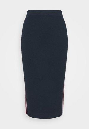LOGO TAPE SKIRT - Pencil skirt - midnightblue