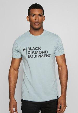 STACKED LOGO TEE - Print T-shirt - blue ash