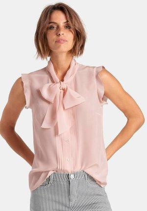 BLUSEN-TOP AUS 100% SEIDE - Button-down blouse - rose