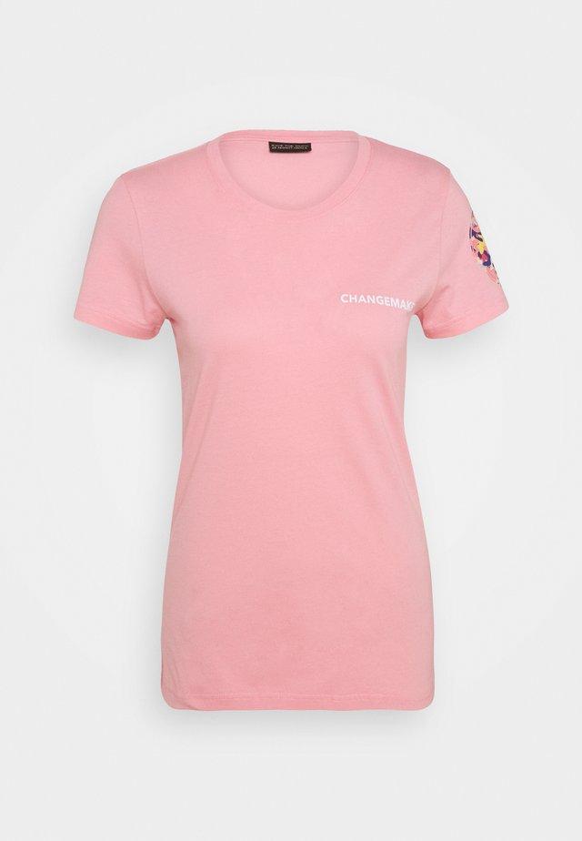 ISABELLA TEE - Triko spotiskem - peony pink