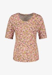 Gerry Weber - MIT FLOWERPRINT - Print T-shirt - lila/pink/grün druck - 3