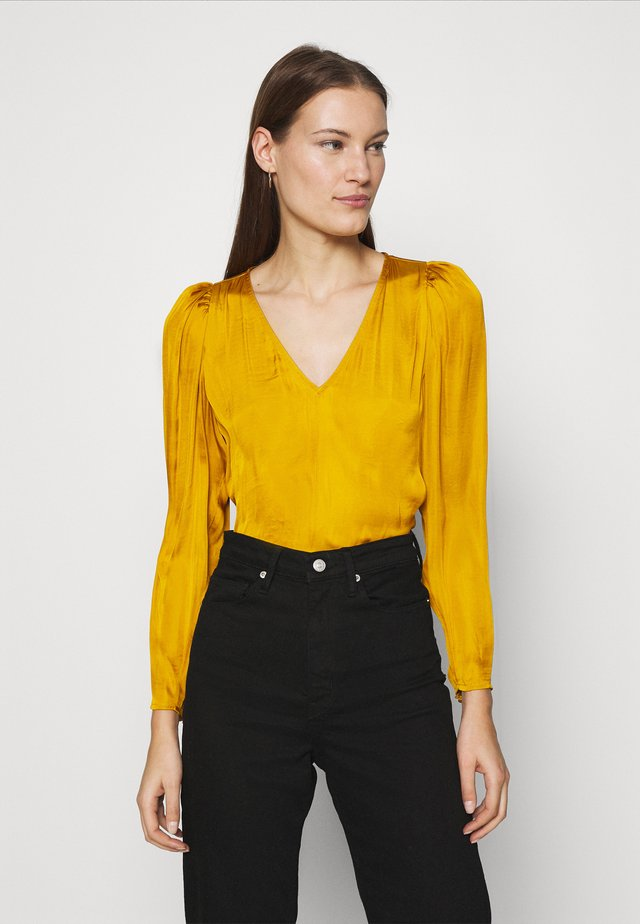PUFF SLEEVE SOFT - Bluser - dark yellow