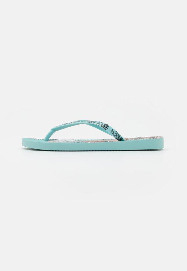 SEM IGUAL TATTOO FEM - T-bar sandals - green/pink