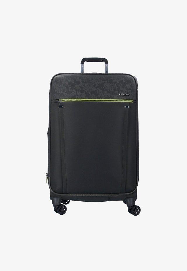 Wheeled suitcase - black/yellow