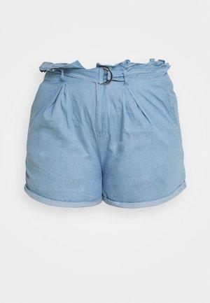 PAPERBAG WAIST - Short - blue