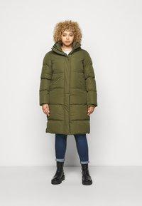 CAPSULE by Simply Be - LONG PADDED DUVET COAT - Classic coat - khaki - 0