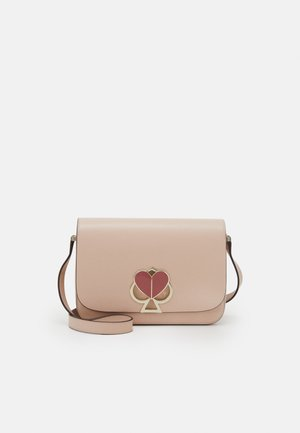 NICOLA TWISTLOCK MEDIUM FLAP SHOULDER - Across body bag - blush