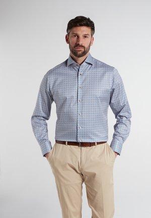 Shirt - hellblau/beige