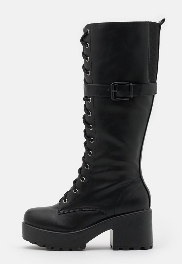 VEGAN  - Platform-saappaat - black