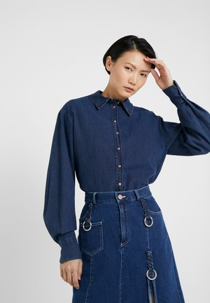 Button-down blouse - stormy night