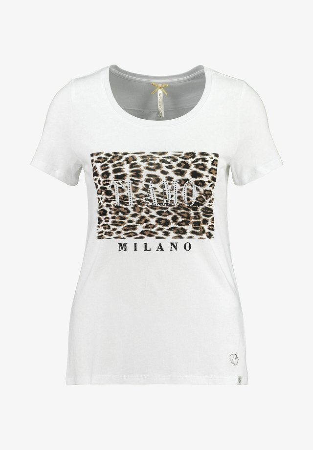 WT AMOUR ROUND - Print T-shirt - weiss