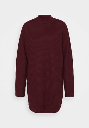 HIGH NECK DRESS - Jumper dress - burgundy