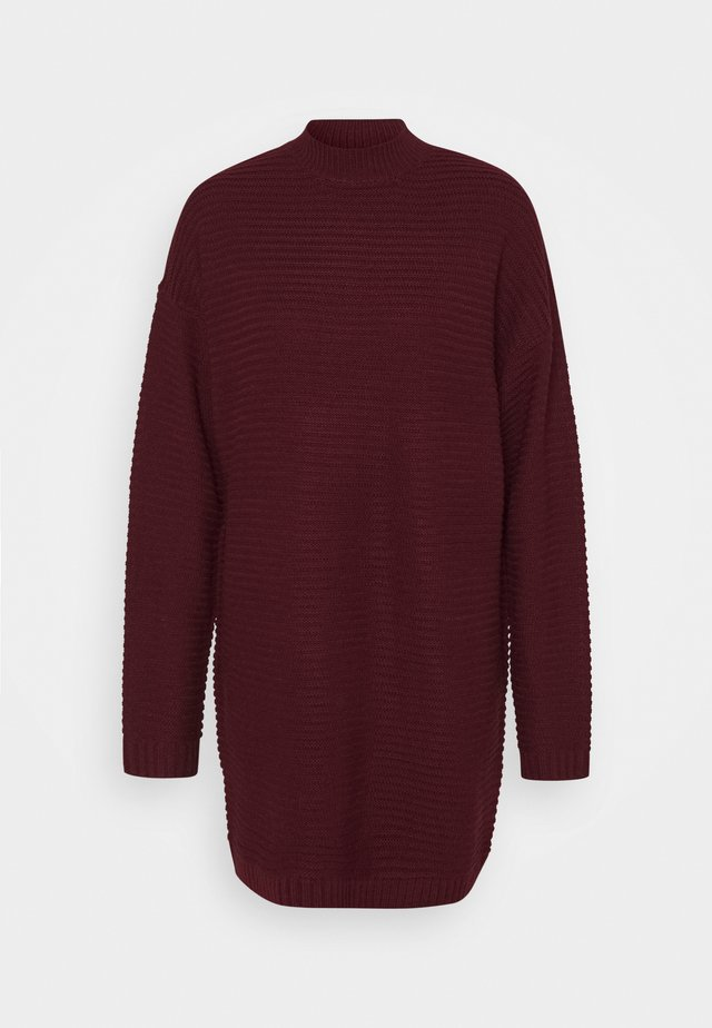 HIGH NECK DRESS - Robe pull - burgundy