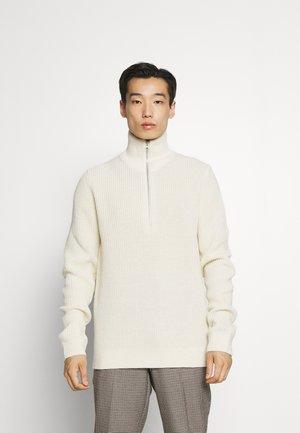 HALF ZIP - Jumper - off white