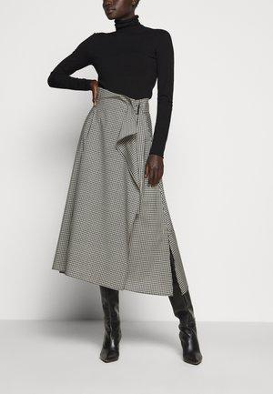 ROLLIO - Áčková sukně - beige