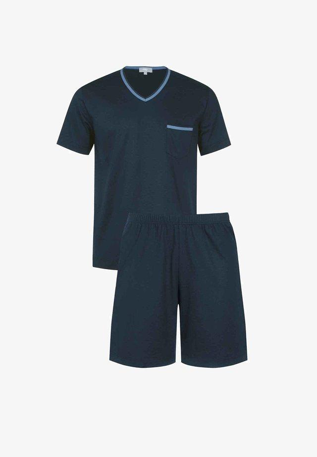 SCHLAFANZUG KURZ - Pyjama - yacht blue