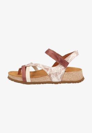 Sandály s odděleným palcem - hibiskus/kombii