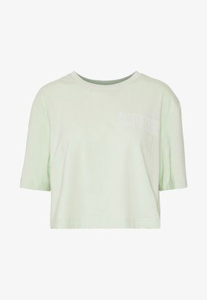 CROPPED SHORT SLEEVE  - T-shirts med print - green