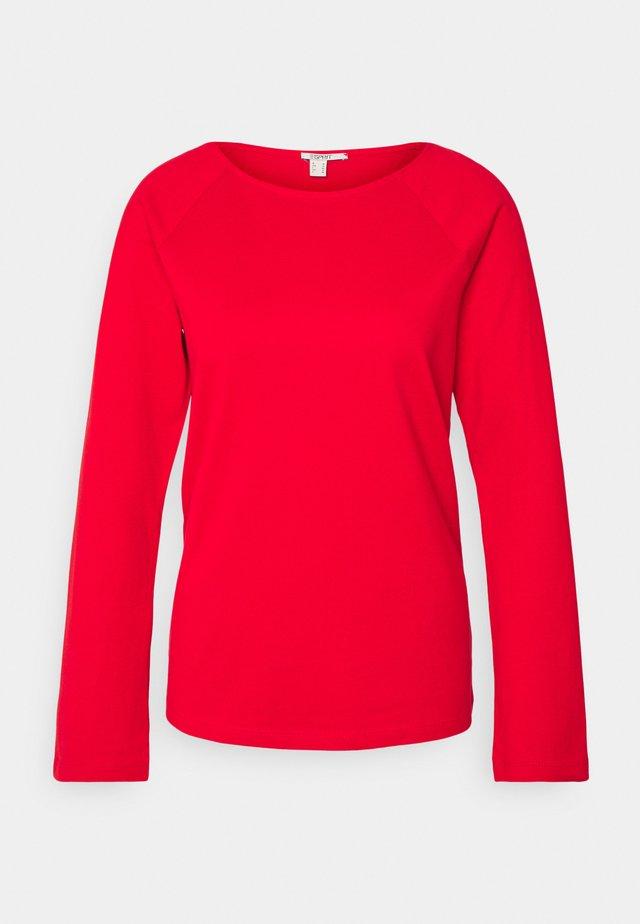 HEAVY TEE - Top sdlouhým rukávem - red
