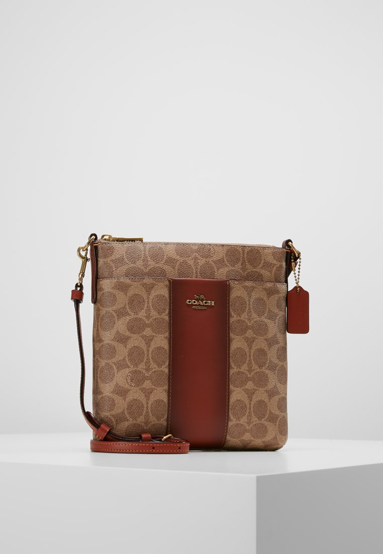 Coach - MESSENGER CROSSBODY SIGNATURE - Across body bag - tan rust