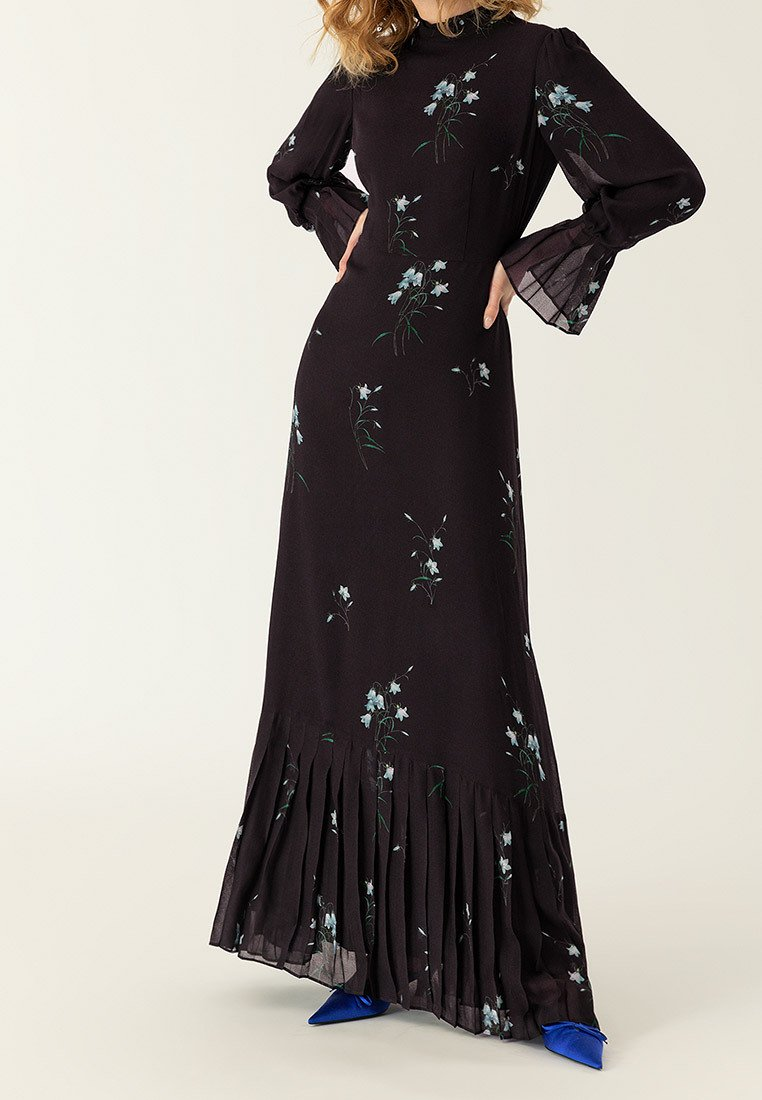 IVY & OAK - PLISSÉ - Maxi dress - black
