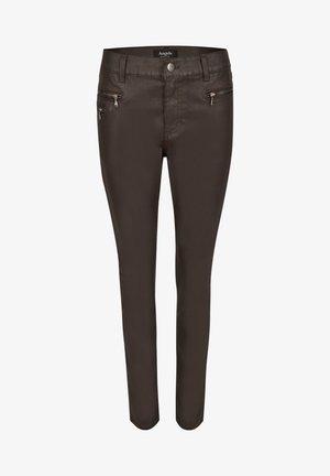 'MALU ZIP' - Trousers - dunkelbraun