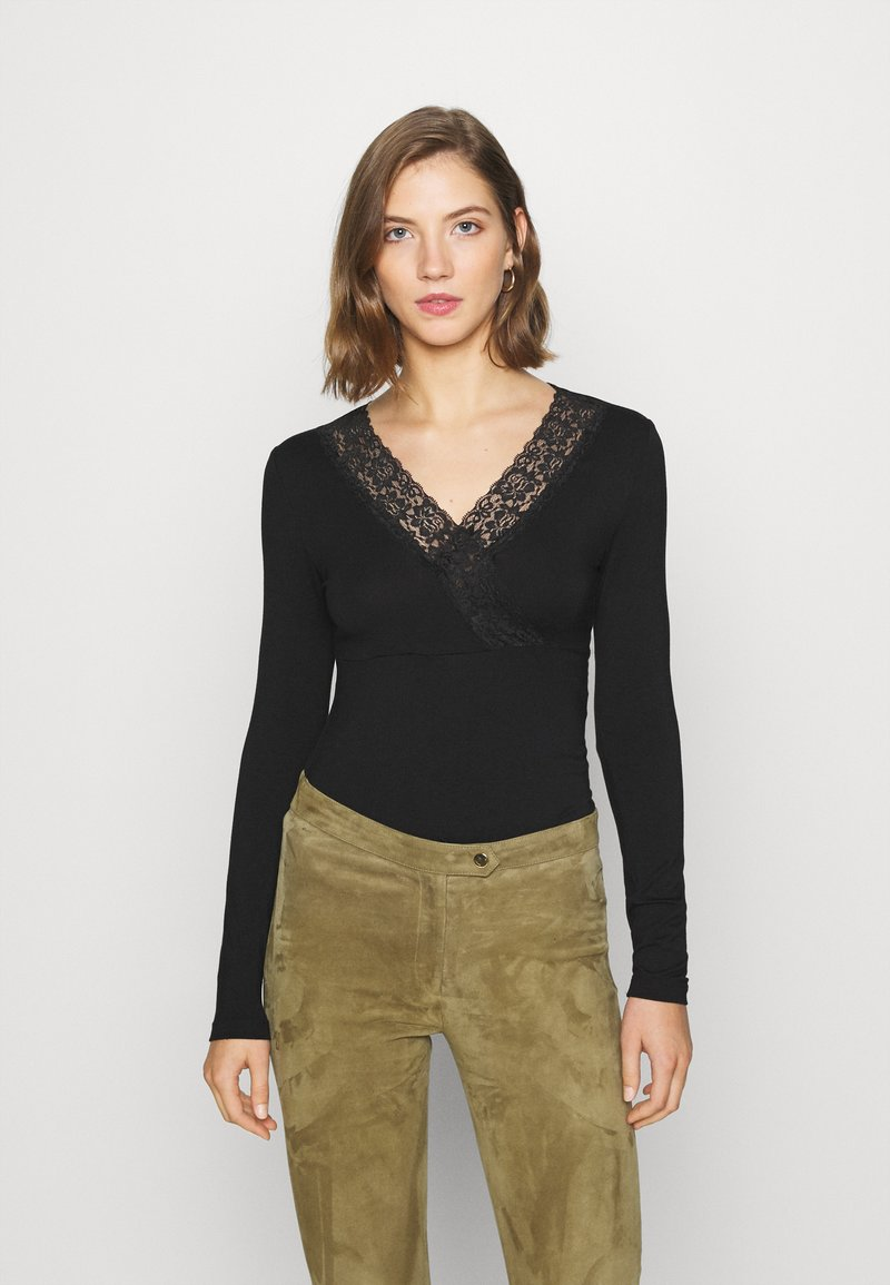 Vero Moda - VMGAIA  - T-shirt à manches longues - black