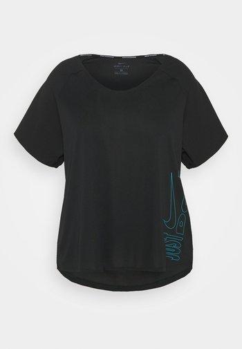 ICON CLASH MILER - T-shirts med print - black/chlorine blue