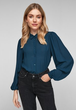 Button-down blouse - moonlight ocean