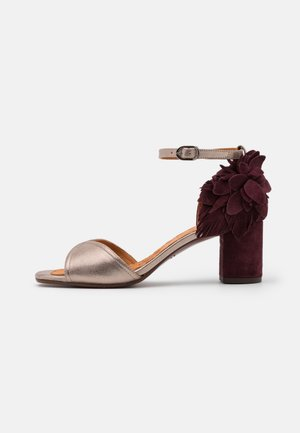 HORTAN - Sandals - dali iron/zeus grape