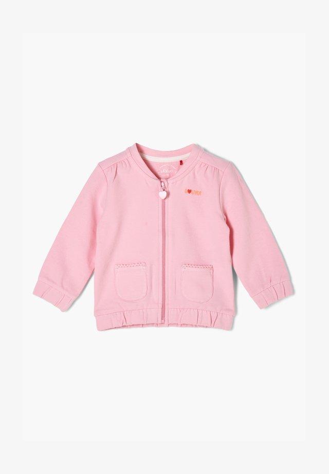 Hoodie met rits - light pink