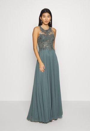 Společenské šaty - smokey green