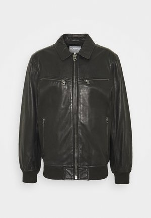 BOB - Leather jacket - black