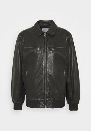 BOB - Leren jas - black