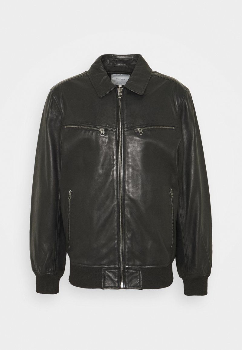 Pepe Jeans - BOB - Leather jacket - black
