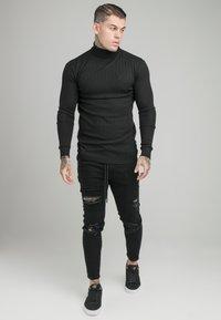 SIKSILK - DISTRESSED ELASTICATED - Slim fit jeans - washed black - 1