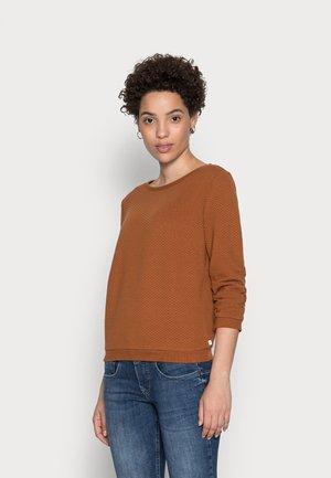 Sweatshirt - amber brown