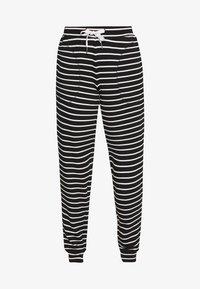 Marks & Spencer London - FLEXI STRIPE PANT REGULAR - Pyžamový spodní díl - black/white - 3