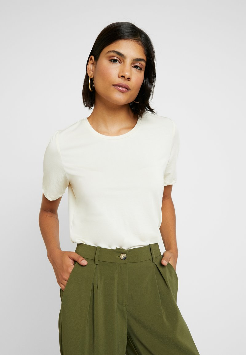 Selected Femme - SLFELLA TEE - T-Shirt basic - birch