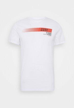 JCOICONIC TEE CREW NECK - Print T-shirt - white