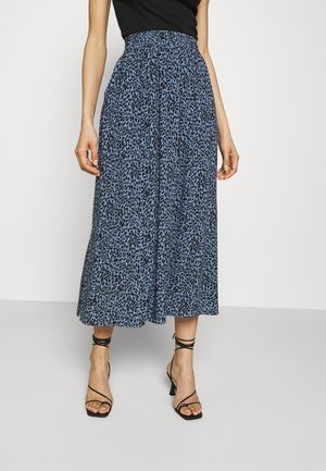 KABARBARA SKIRT - Jupe trapèze - quiet harbour/black animal