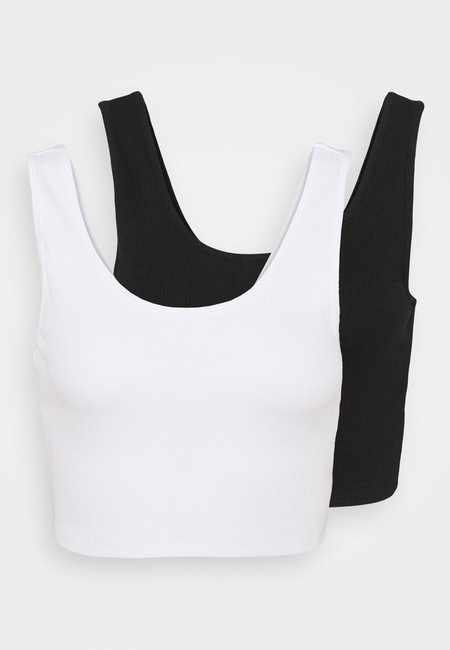 MIRANDA TANK 2 PACK - Top - black/white