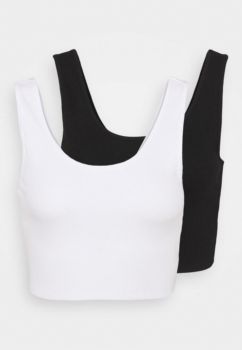 Gina Tricot - MIRANDA TANK 2 PACK - Top - black/white