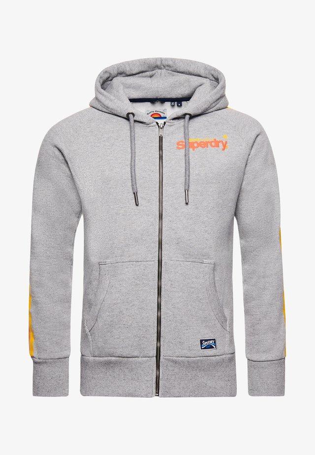CORE LOGO CALI RAGLAN  - veste en sweat zippée - grey slub