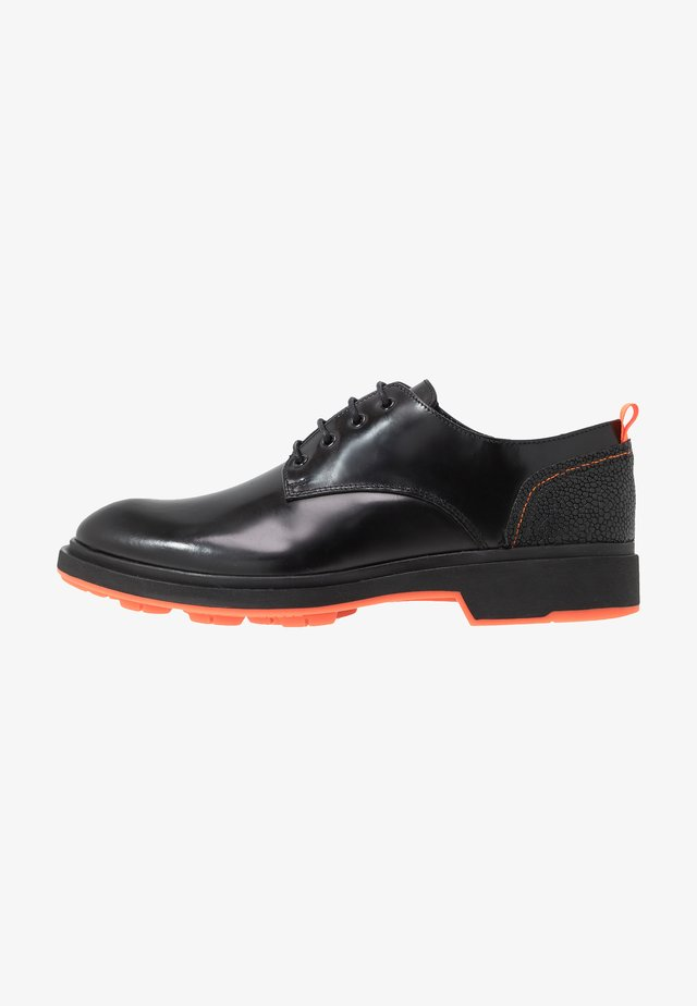 CHARLIE 4 EYE DERBY - Lace-ups - black polido