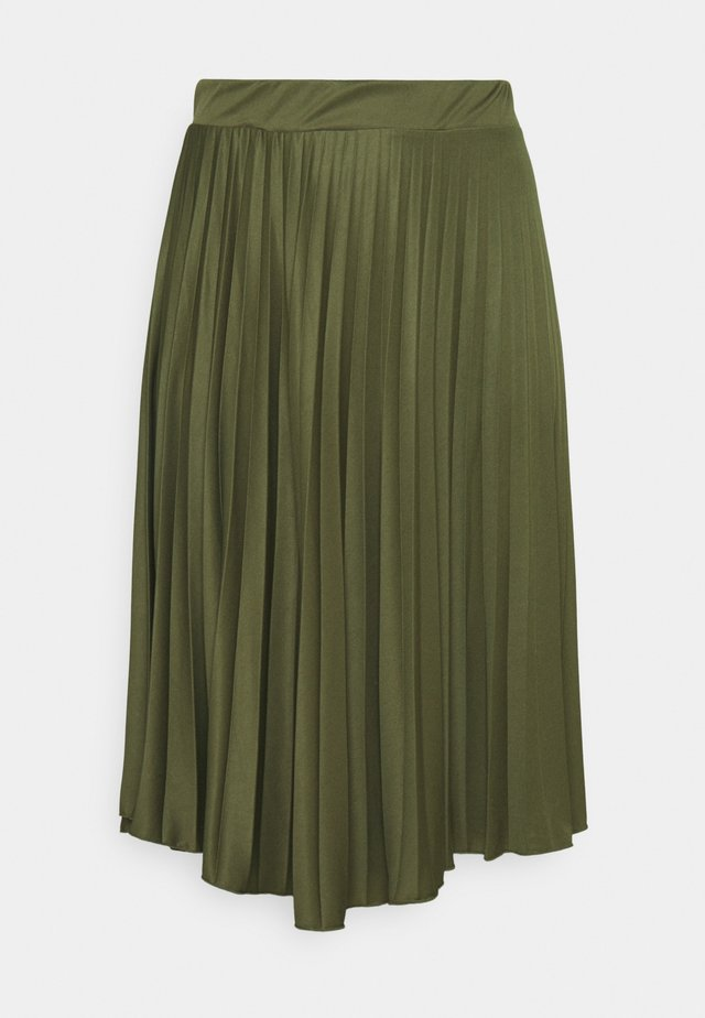 PLEAT - A-line skirt - khaki