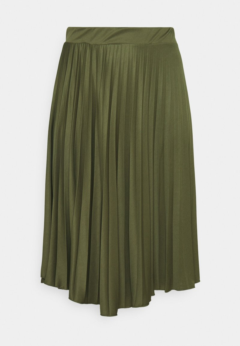 Dorothy Perkins Curve - PLEAT - A-line skirt - khaki
