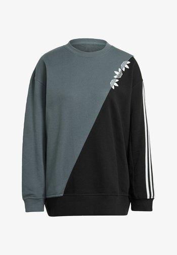ADICOLOR SLICED TREFOIL SWEATSHIRT - Sweatshirt - blue