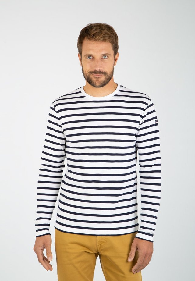 CROZON - MARINIÈRE - T-SHIRT - T-shirt à manches longues - blanc navire