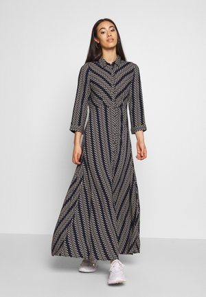 YASSAVANNA BOHO LONG DRESS - Maxikjole - navy blazer/creme